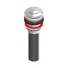 "1-1/4"" x 6"" Chrome Plated Sink Plug 20 Gauge With Clicker"