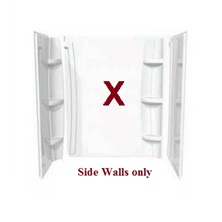 "36"" Shower Wall Set (2 Sides less Back Wall) Acrylic White - 105064"