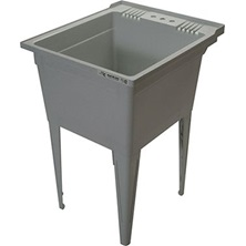 Grey Composite Clawfoot Service Sink
