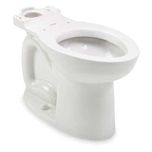 CADET PRO Elongated Toilet Bowl Right Height White Everclean Surface ADA Less Seat
