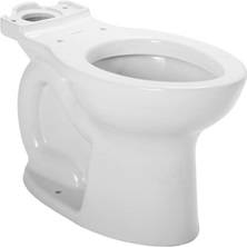 CADET PRO Round Front Toilet Bowl White Everclean Surface Less Seat