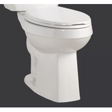 "CRISTA Elongated Toilet Bowl 17"" Height White ADA Less Seat"