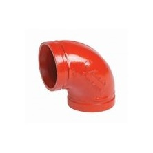 "Firelock Elbow 90 Ductile Iron Painted Grooved 4"" F040001P00"