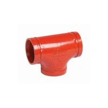 "Firelock Tee Ductile Iron Painted Grooved 4"" F040002P00"