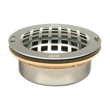 "JP1996-SDL 3"" Threaded Stainless Steel Drain With Dome Strainer Link Basket & Locking Nuts For Zurn Mop Sinks"